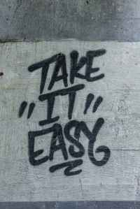 take it easy painted road